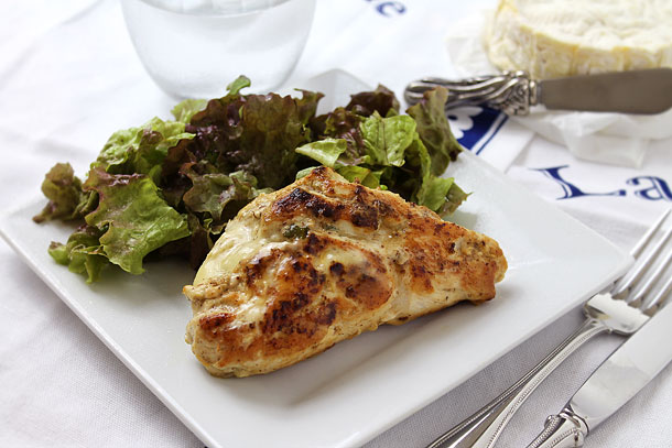 Pan Seared Chicken Breast Stuffed With Brie