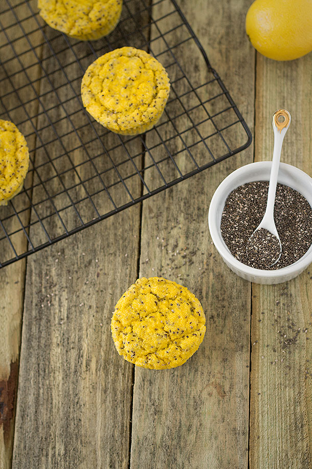 Delicious Lemon Chia Seed Muffins from Slim Palate