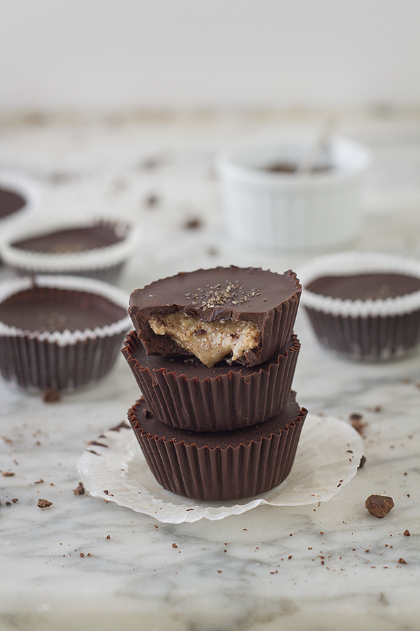 Dark Chocolate Almond Butter Cups with Smoked Sea Salt (Paleo, Refined ...