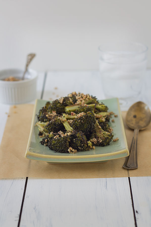 Roasted Pecan Broccoli