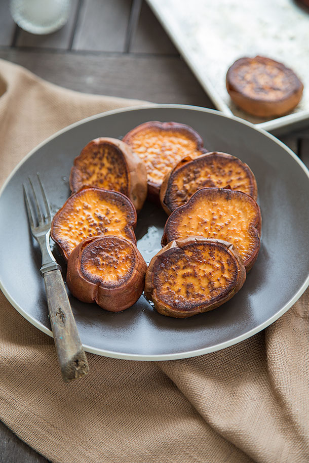 Spiced Sweet Potato Rounds | Slim Palate