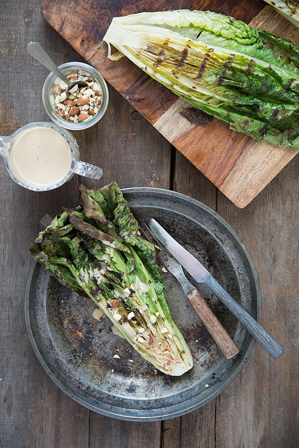 Grilled-Romaine-with-Toasted-Almonds-and-Caesar-Dressing-by-Slim-Palate