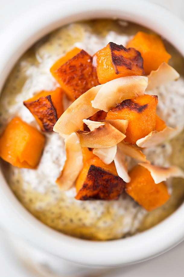 Coconut-Chia-pudding-with-roasted-butternut-and-honey