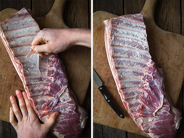 Removing-Membrane-from-Spare-Ribs