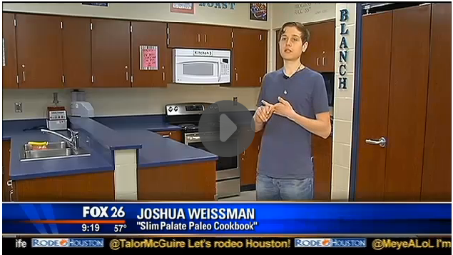 Joshua Weissman of Slim Palate on Fox 26 News
