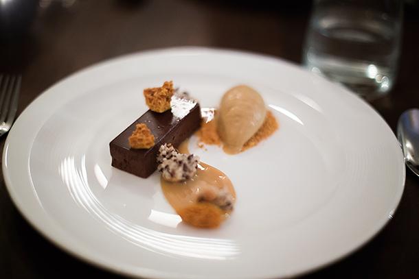 Gluten-Free-CHocolate-Torte-Cocoa-Nib-Macaroon-Caramelized-Milk