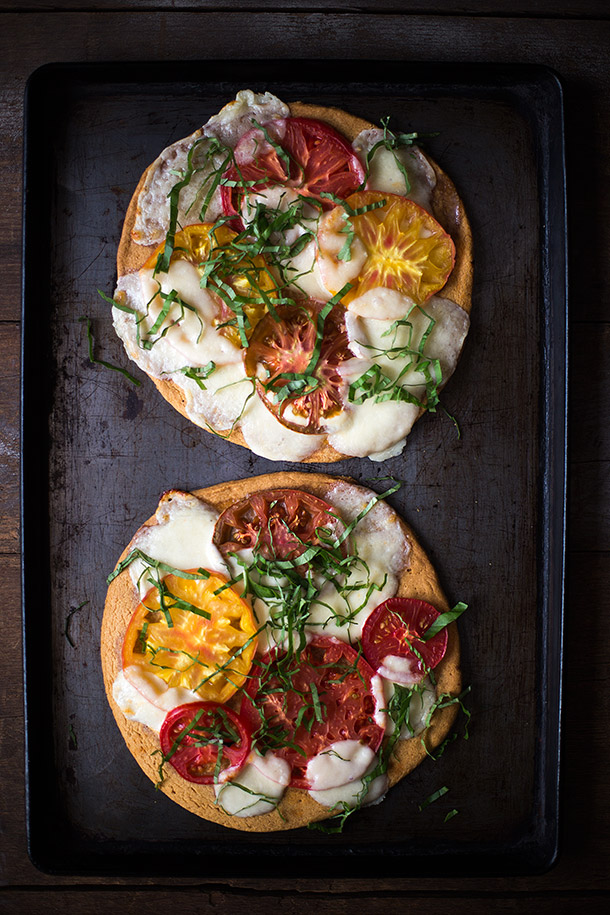 Heirloom Tomato Pizza Margherita Via Slim Palate