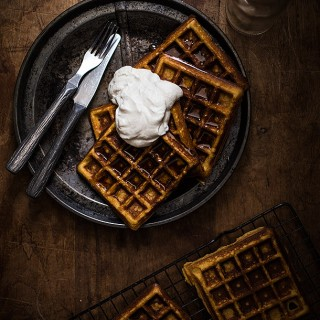 Blender Waffles With Coconut Cream