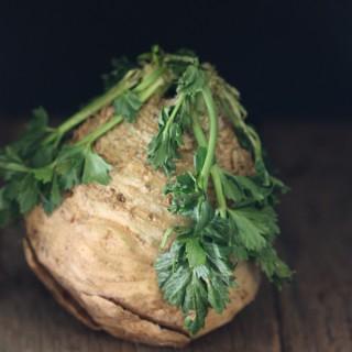 Guest Post: Celery Root Chicken & Mushroom Alfredo