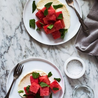 Watermelon Salad with Whipped Feta