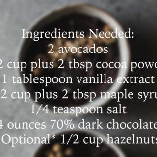 GIF Recipe: Chocolate Avocado Mousse With Hazelnuts