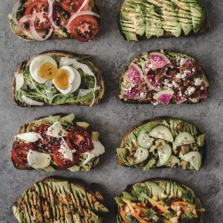 Avocado Toast 8 Ways